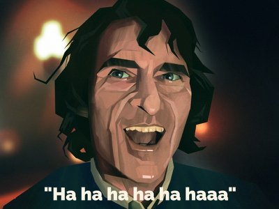 A R T H U R joker portrait digitalpainting illustration
