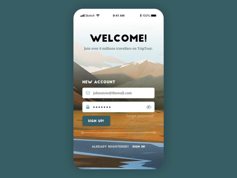 Daily UI 01 & 02 dailyui app design uidesigner uidesignchallenge uidesign ui design flat