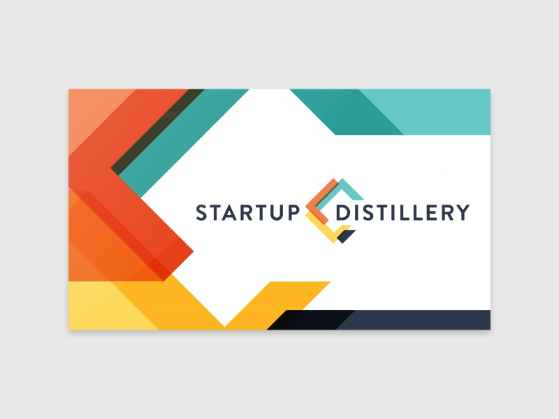 Startup distillery logo business card concept by alex garey dribbble reheart Image collections