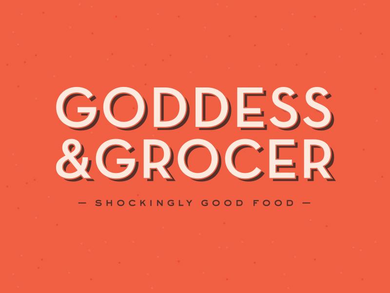 Goddess and Grocer Logo Concept alex garey typography branding identity logo food retro bold design grocer goddess and grocer chicago