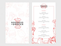 Goddess and Grocer Menu Concept