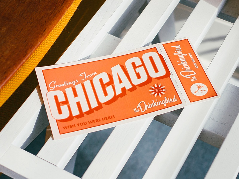 Greetings From Chicago - Postcard postcard chicago design typography greetings mail card letter drinkingbird bar designscout alex garey
