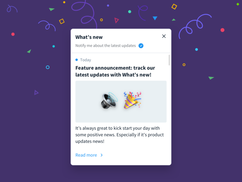 Product news popup