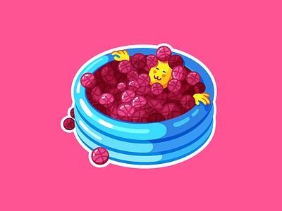 Ball Pit Sticker Design dribbble ball pit playground sticker illustration design character joy