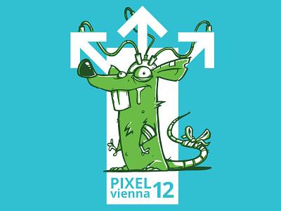 PIXELvienna Shirt 2017 test lab rat
