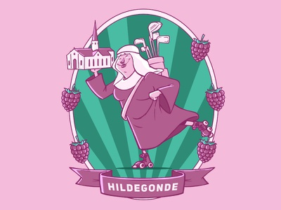 Hildegonde label nun strawberry beer craft