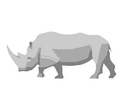 Rhino walk rhinoceros rhino