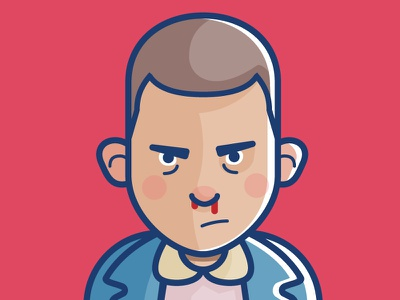 Eleven flat character eleven stranger things