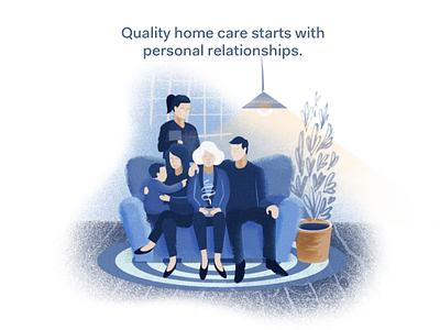 Quality Home Care - Ad customer relationship management senior care caregiving crm agency homecare
