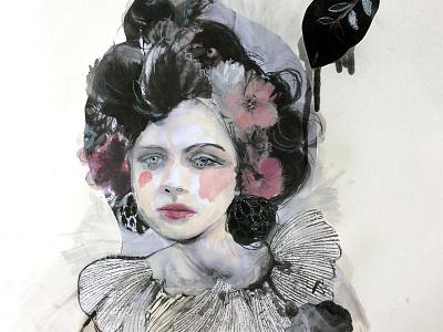 Introspection (portrait) illustrator drawing painting woman people portrait fashion illustration illustration