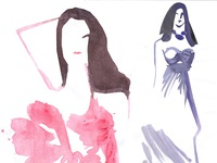 Fashion illustration sketches, figurative art