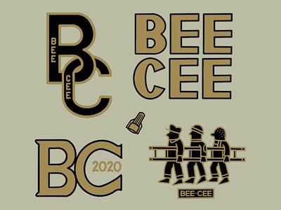 BEE CEE logo branding typography illustration design