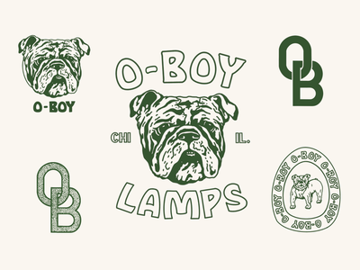 OBsheet seals logo branding typography illustration design