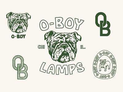 OBsheet seals logo branding typography illustration design