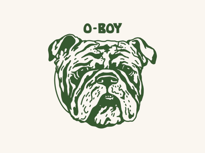 O-Boy seals logo branding typography illustration design