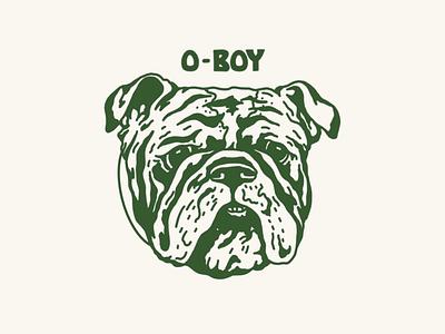 O-Boy seals logo branding typography illustration design