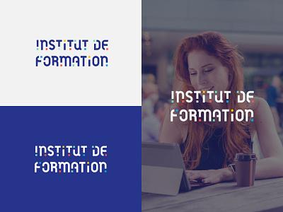 Institut de Formation for sale sale institut formation typography typo wordmark digital design logo branding identity geometric mark clean brand