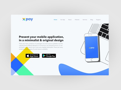 illustration smartphone App presentation landing presentation application web app ui ux identity minimalist abstract logo design illustration branding