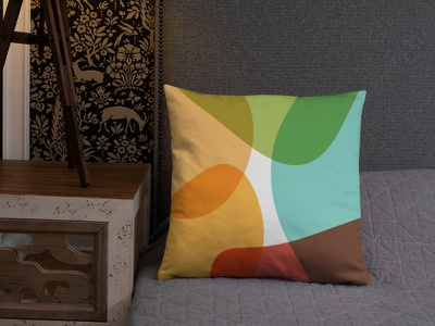 Art Abstrait Original Pillow pillow webdesign web wave wall slider phone organic minimalist liquid landing illustration home decoration art architect
