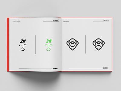 LOGO BOOK Project abstract colorfull identity minimalist vector branding illustration brand logo design