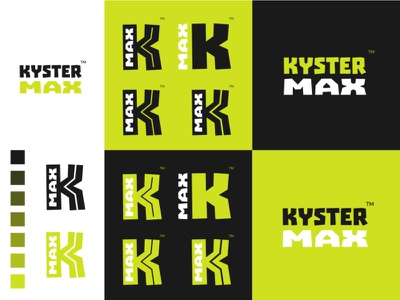 KYSTER MAX switch typography branding monogram identity mark minimalist clean brand design logo