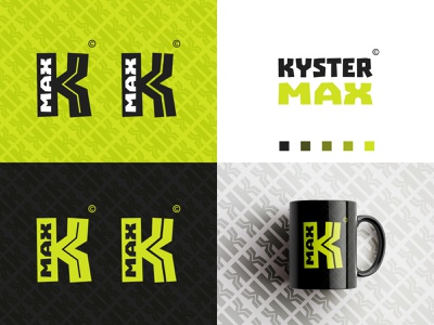 KYSTER MAX identity twitch gaming letter k switch typography branding monogram identity mark minimalist clean brand logo design