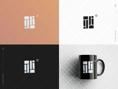 Letter Challenge I Monogram picto monogram graphic design ui branding minimalist abstract clean brand logo design