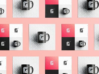 Letter Challenge G Monogram identity abstract minimalist vector branding brand logo design