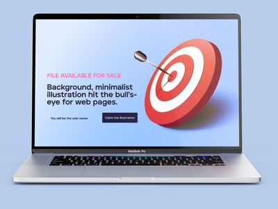 Background, minimalist illustration hit the bull's-eye objectif marketing graphic design branding brand texture minimalist abstract ux ui web webdesign target illustration design