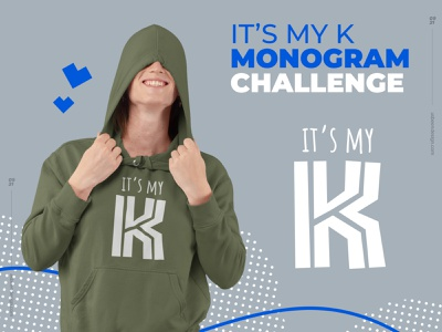 it's my K sale monogram k letter hoodies branding minimalist clean brand logo design