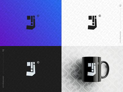 Letter Challenge -J- Monogram clean j monogram branding minimalist brand logo design