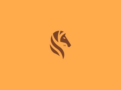 Horse 3 shot rebond logo strong serious horse