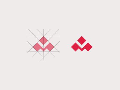 M Monogram 2 design logo rebond monogram m