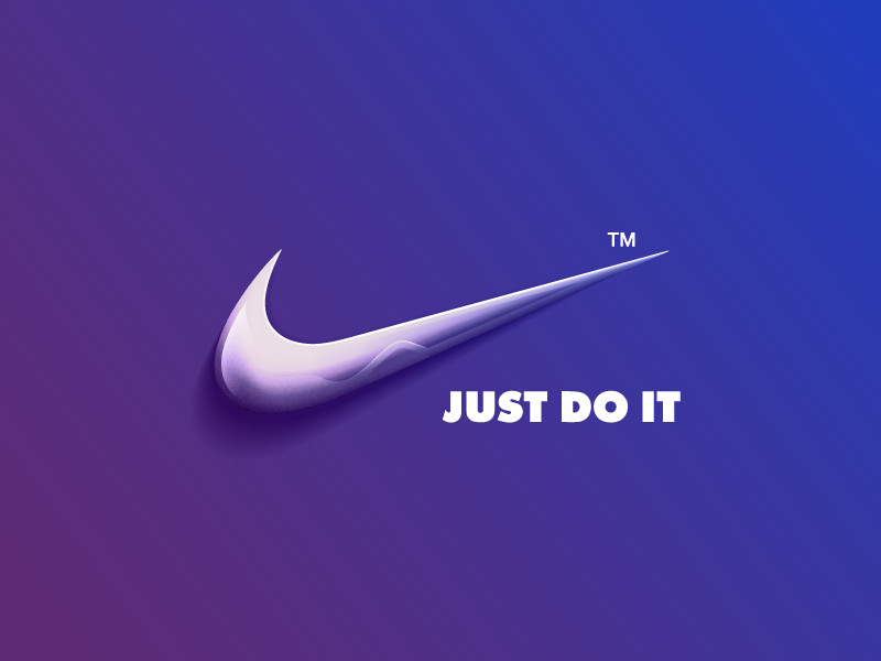 nike logo by asbeendesign dribbble