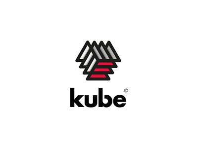 Kube sharpe pictogram logo geometric design cube abstract