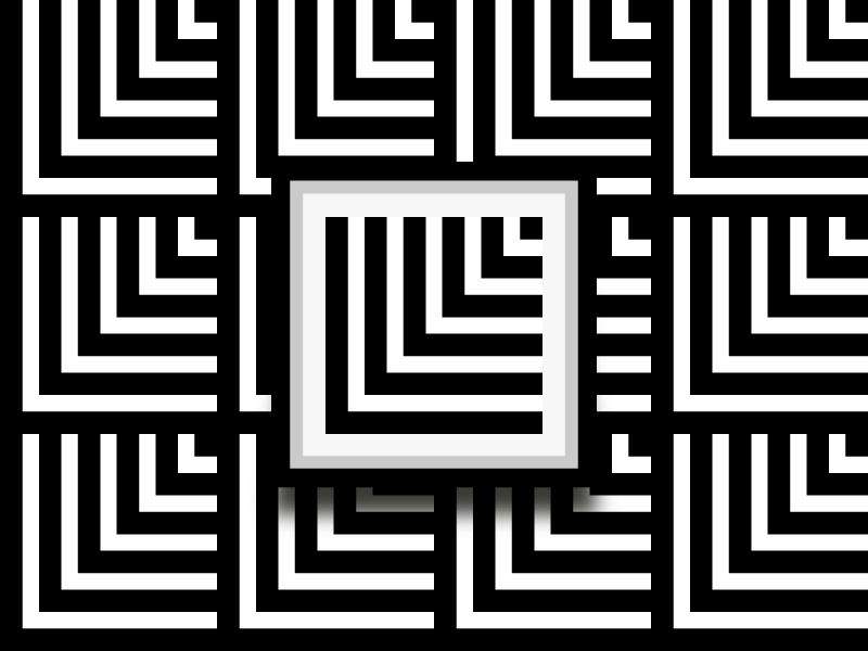 Black & White minimalist square project geomteric white black pattern