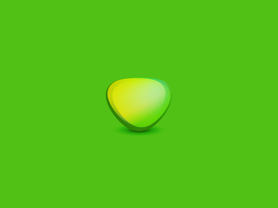 Abstract Visual green abstract colorfull powerfull logo design shadow strange illustration vector illustrator