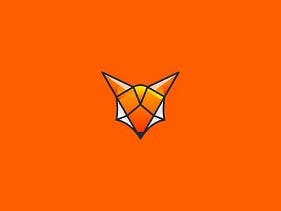 Fox powerfull clean illustration illustrator vector design logo fox