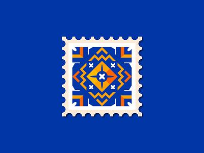 Stamp Motif design oriantal geometric illustration vector illustrator pattern motif stamp