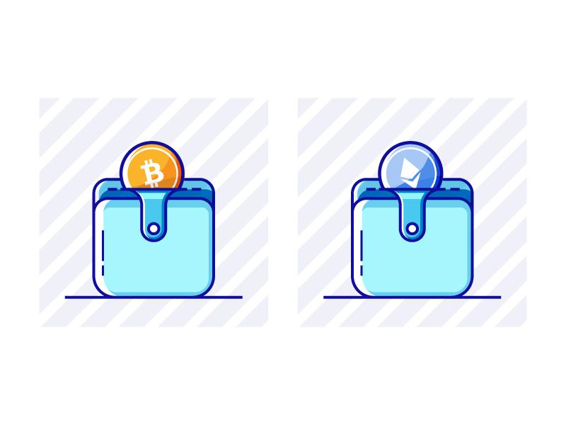 Crypto Wallet web ux ui design icon wallet crypto