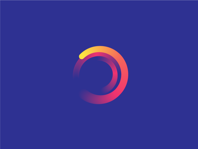 Abstract logo color powerfull minimalist corporate smooth innovation digital circle logo abstract