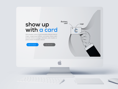 illustration ux ui header design web minimalit clean monochrom illustration
