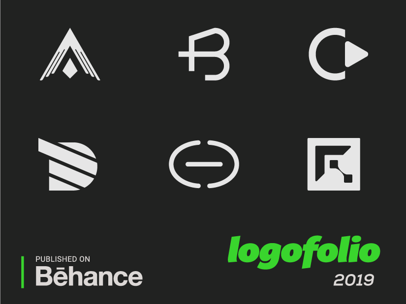 Logofolio 2019 tech stratup monogram monochrome minimalist mark logo identity icon geometric digital design clean branding brand alphabet abstract
