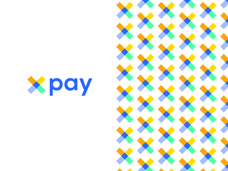 xpay identity bank payment app web ux ui branding vector colorfull identity monogram minimalist geometric mark clean abstract brand logo design