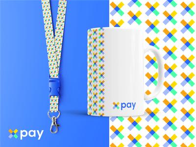 xpay Identity Brand a web vector ux ui payment monogram minimalist mark logo identity geometric design colorfull clean branding brand bank app abstract