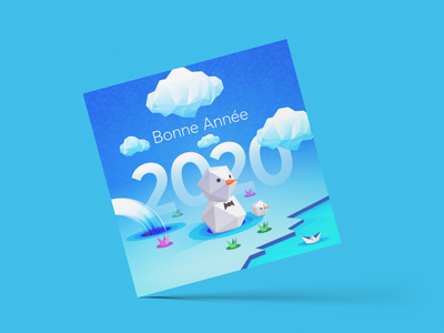 Happy New Year 2020 wish card 2020 year new colorfull branding identity brand abstract clean design logo illustration