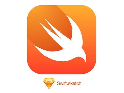 Swift.sketch wwdc 2014 swift logo sketch vector
