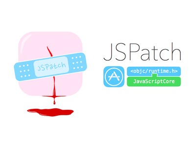 A logo for JSPatch patch logo banner javascript opensource objc