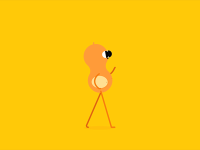 Peanut walkcycle character animation character design illustration walkcycle rubberhose2 aftereffects animation