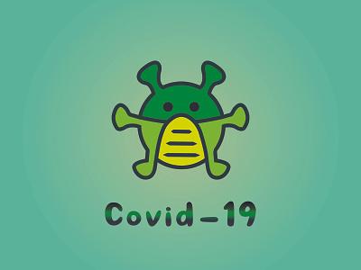 Covid-19 Logo icon update logo corona virus covid art stylish logo modern logo covid corona logo flat logo minimalist minilam logo best logo unique logo illustration vector covid 19 logo covid-19 logo design ai